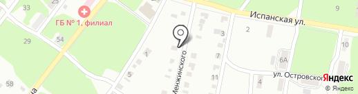 Прачечная по стирке постельного белья на карте Копейска