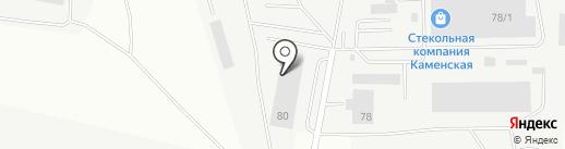 Уральский завод цветного литья на карте Каменска-Уральского