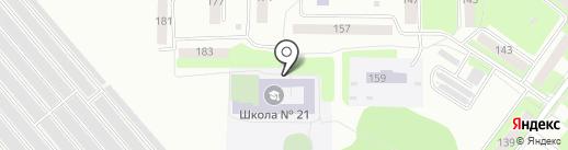 Средняя общеобразовательная школа №21 на карте Каменска-Уральского
