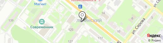 Радуга на карте Каменска-Уральского