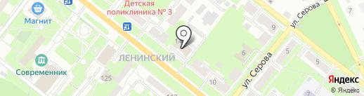 Магазин канцелярских товаров на карте Каменска-Уральского