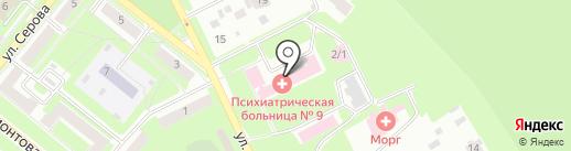 Психиатрическая больница №9 на карте Каменска-Уральского