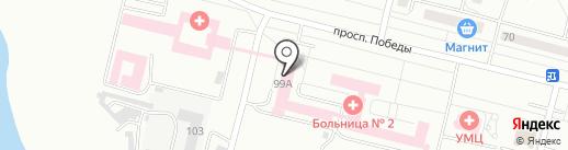 Детская городская больница г. Каменска-Уральского на карте Каменска-Уральского