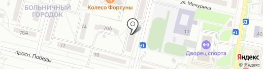 Алексеевский на карте Каменска-Уральского