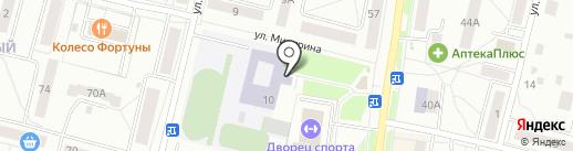 Средняя общеобразовательная школа №15 на карте Каменска-Уральского