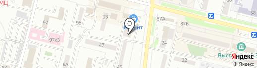 Долька на карте Каменска-Уральского
