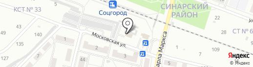 Веселок на карте Каменска-Уральского