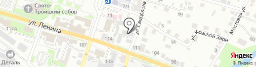 Октябрьское на карте Каменска-Уральского