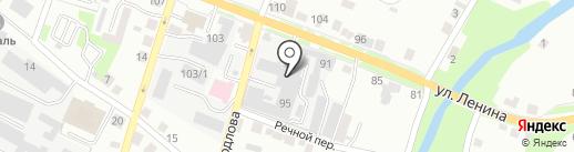 Каменск-Уральская обувная фабрика на карте Каменска-Уральского