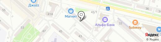 Ли-ка на карте Каменска-Уральского