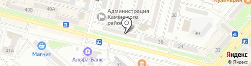 Уральский камень на карте Каменска-Уральского
