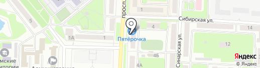 Посудный ряд на карте Каменска-Уральского