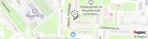 V6 на карте Каменска-Уральского
