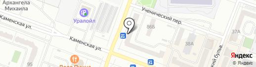 Параллель на карте Каменска-Уральского