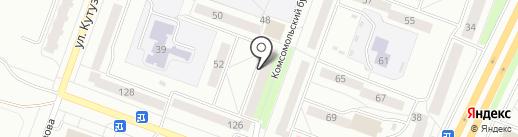 Отдел полиции №23 на карте Каменска-Уральского
