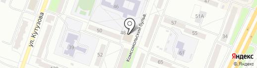 Находка на карте Каменска-Уральского