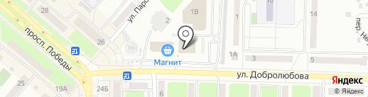 Добролюбовский на карте Каменска-Уральского