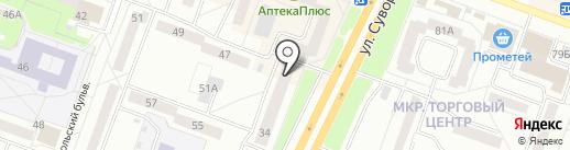 Блик на карте Каменска-Уральского