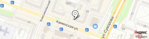 КаменскТелеком на карте Каменска-Уральского