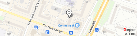 Старый рыбак на карте Каменска-Уральского