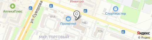 Кировский на карте Каменска-Уральского
