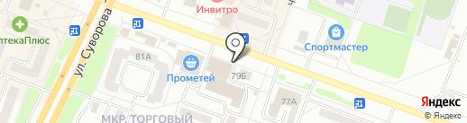 Киоск по продаже овощей и фруктов на карте Каменска-Уральского