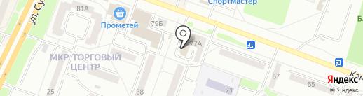 Суперценопад на карте Каменска-Уральского