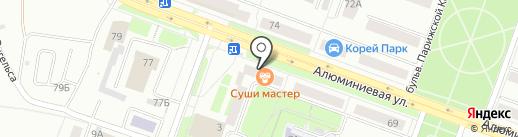 Трилайн на карте Каменска-Уральского