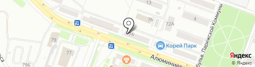 Почтовое отделение №8 на карте Каменска-Уральского