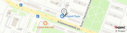Здравница на карте Каменска-Уральского