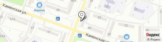 Кружева на карте Каменска-Уральского