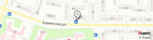 Киоск по продаже мороженого на карте Каменска-Уральского