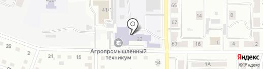 Каменск-Уральский агропромышленный техникум на карте Каменска-Уральского