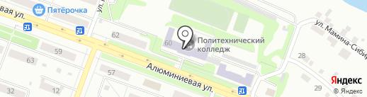 Каменск-Уральский политехнический колледж на карте Каменска-Уральского