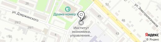 Каменская юношеская автомобильная школа на карте Каменска-Уральского