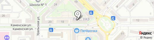 Птицефабрика Свердловская на карте Каменска-Уральского