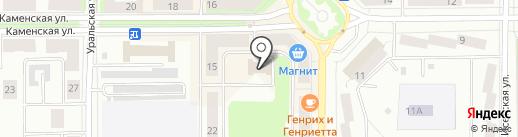 Атлант на карте Каменска-Уральского