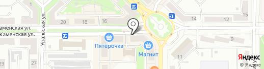 Московская Ярмарка на карте Каменска-Уральского