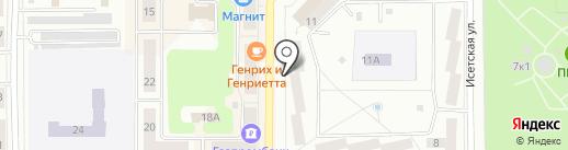 Комплексный центр социального обслуживания населения г. Каменска-Уральского на карте Каменска-Уральского