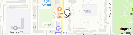 Клинур на карте Каменска-Уральского
