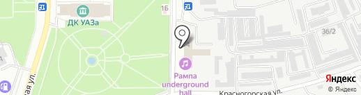 В санях на карте Каменска-Уральского