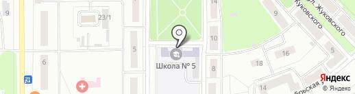 Средняя общеобразовательная школа №5 на карте Каменска-Уральского