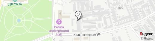 Петрович на карте Каменска-Уральского