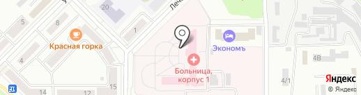 Городская больница на карте Каменска-Уральского
