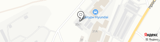 Ампераж на карте Кургана