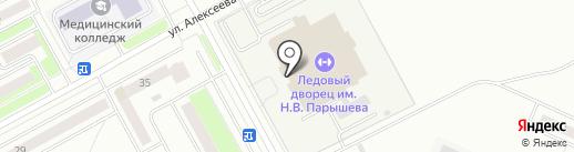 Ледовый дворец спорта им. Н.В. Парышева на карте Кургана