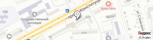 Тобол на карте Кургана