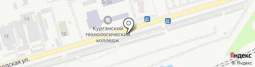 Шиномонтажная мастерская на карте Кургана