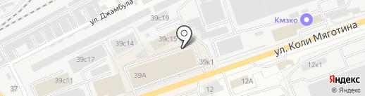 Макош на карте Кургана