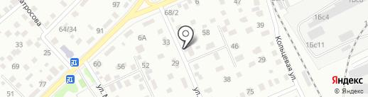 Автосервис на Лермонтова на карте Кургана
